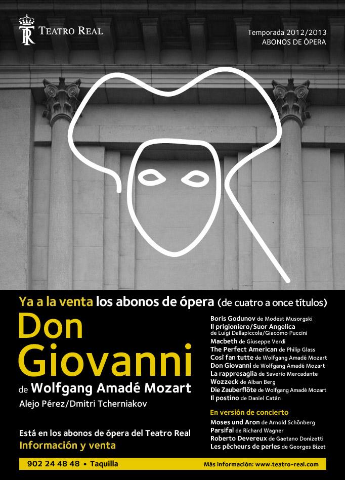 temporada 2012 2013  Abonos de ópera