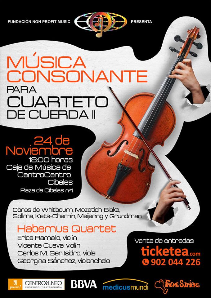fundacion non profit music  Presentación del Cuarteto Habemus Quartet