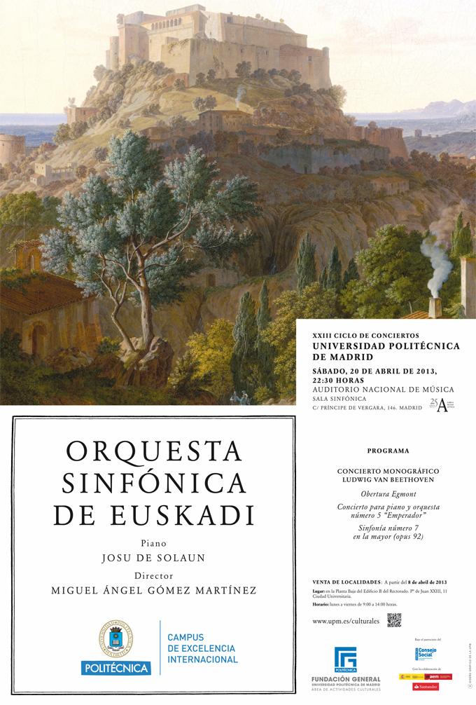 universidad politecnica de madrid  XXIII Ciclo Conciertos. Monográfico Ludwig van Beethoven