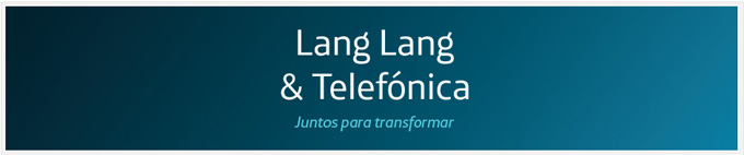 telefonica y lang lang  Gira Lang Lang por España Octubre de 2013