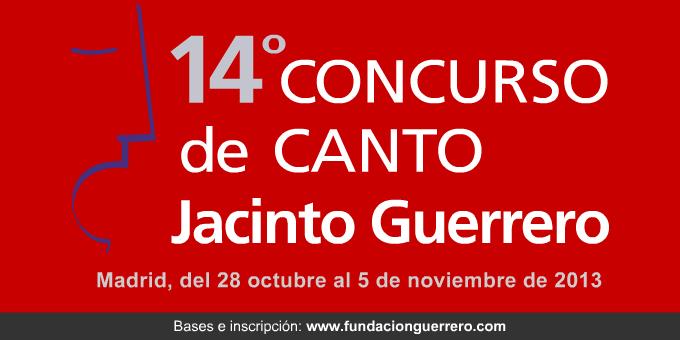 fundacion guerrero  14º Concurso de Canto Jacinto Guerrero