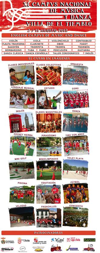 xi campus nacional de musica y danza villa de el tiemblo  English Campus of Music and Dance