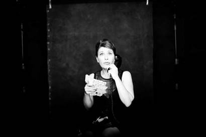teatros del canal  La voix humaine, interpretada por la soprano María Bayo