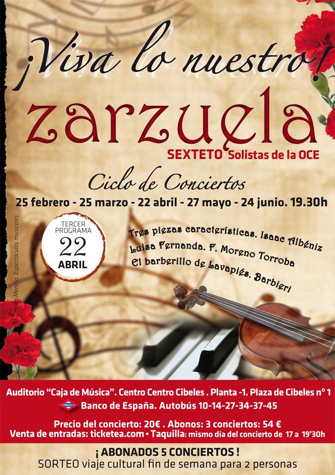 orquesta de camara de espana  ¡Viva lo nuestro! Ciclo de conciertos de Zarzuela