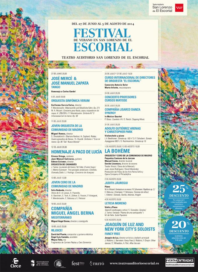 teatro auditorio de el escorial  Festival de San Lorenzo de El Escorial 2014