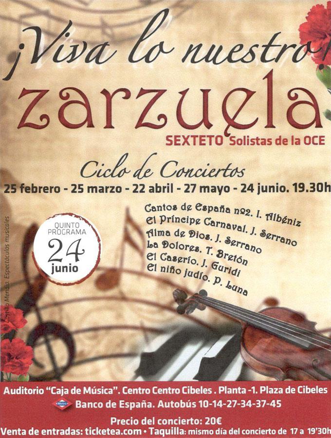 orquesta de camara de espana  Último concierto del Ciclo de Zarzuela ¡Viva lo nuestro!