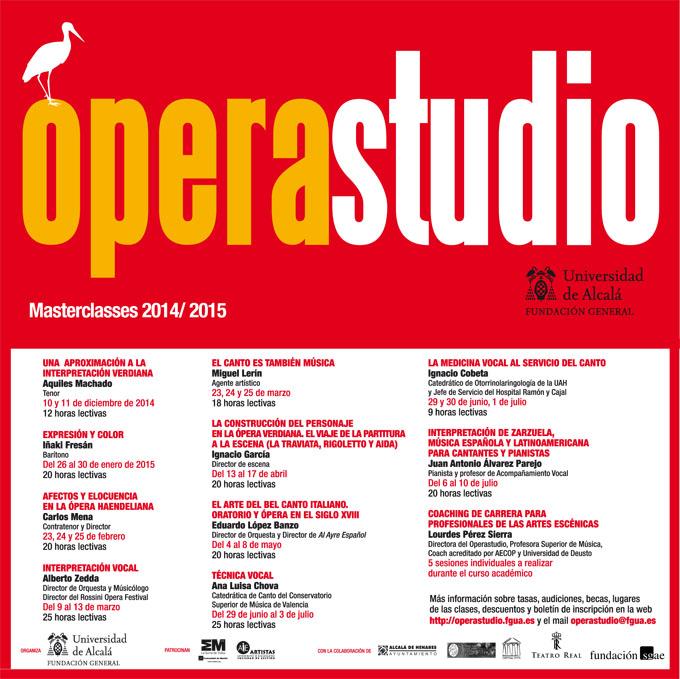 operastudio  Nuevo programa de Masterclasses y otras actividades
