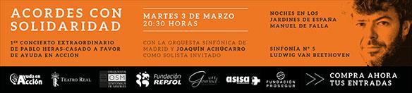 ayuda en accion  Acordes con solidaridad de la mano de Pablo Heras Casado en el Teatro Real