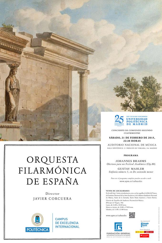 universidad politecnica de madrid  Obras de Brahms y Mahler en el XXV Aniversario del Ciclo Sinfónico UPM
