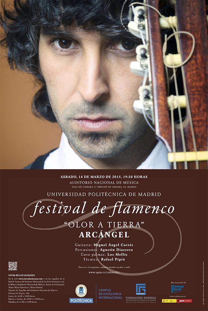 universidad politecnica de madrid  Arcángel en el Festival de Flamenco de la UPM