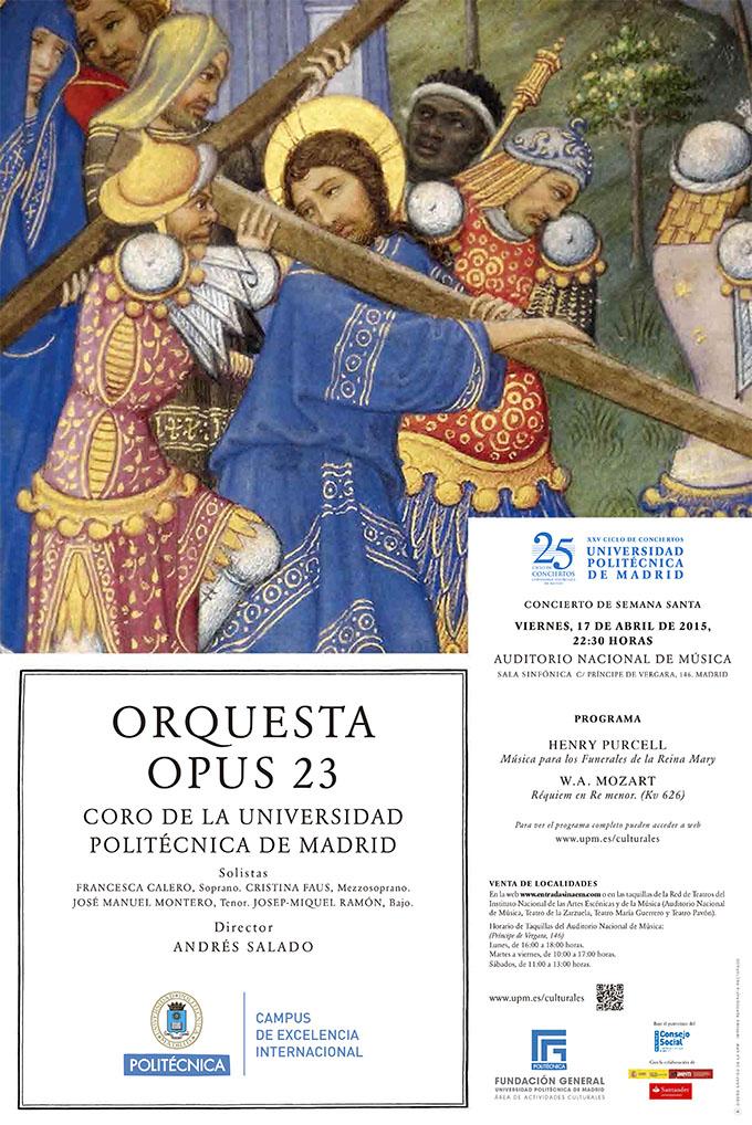 universidad politecnica de madrid  La Orquesta Opus 23 y el coro de la UPM en el Auditorio Nacional