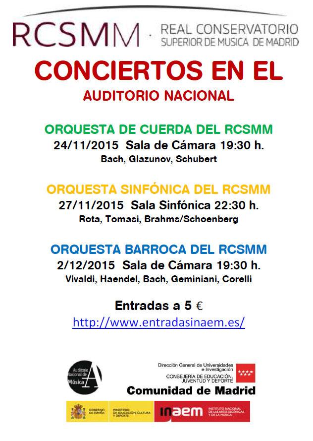 real conservatorio superior de musica de madrid  Orquestas del futuro en el Auditorio Nacional