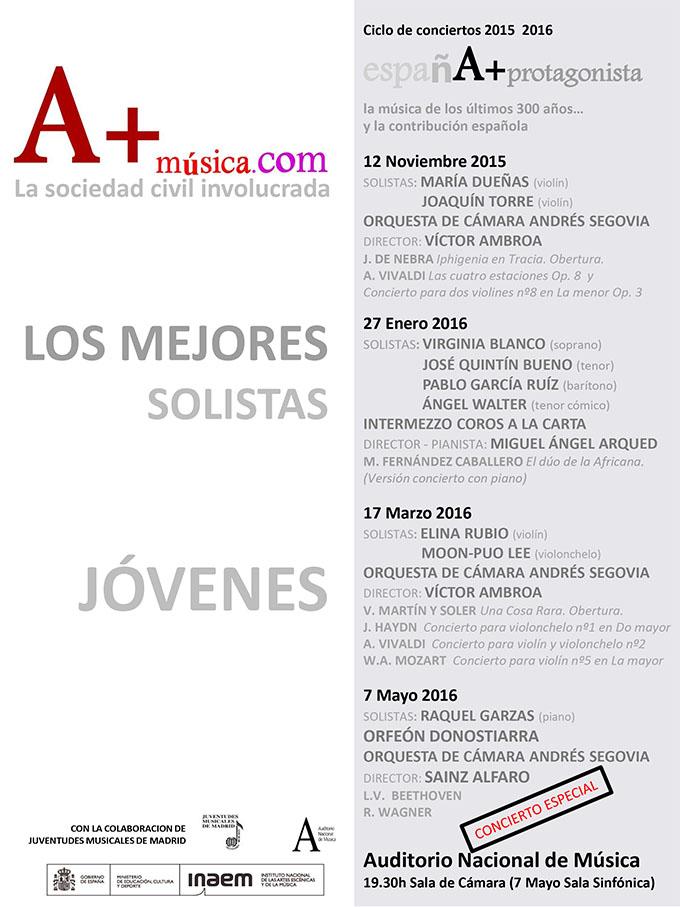 amusica com  Los mejores solistas jóvenes en la IV temporada de conciertos de A+música.com