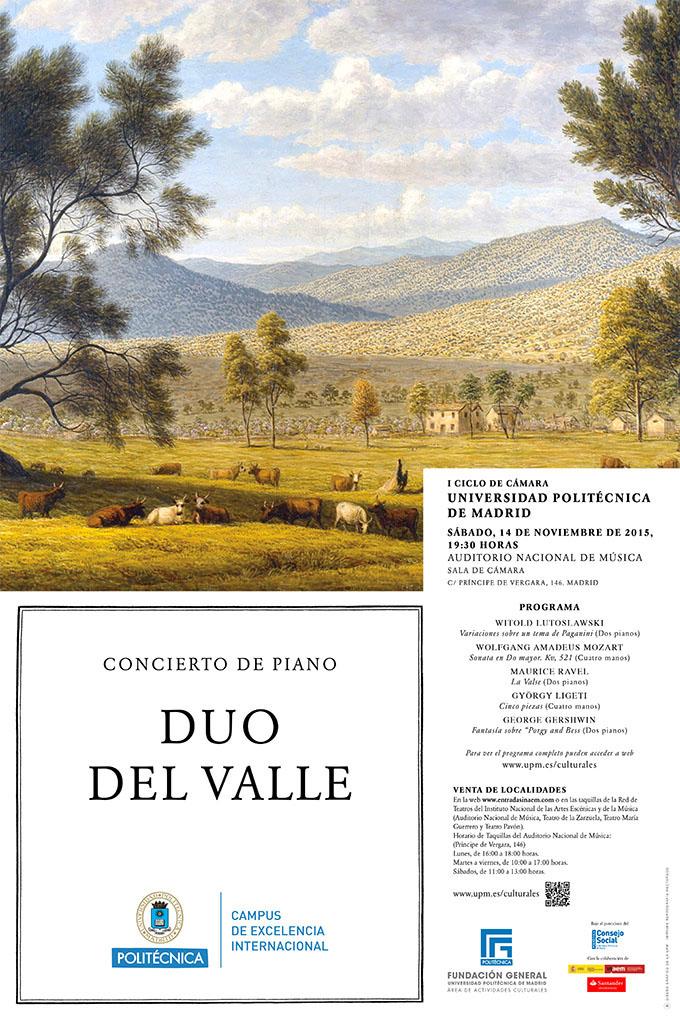 universidad politecnica de madrid  Concierto de piano Dúo del Valle