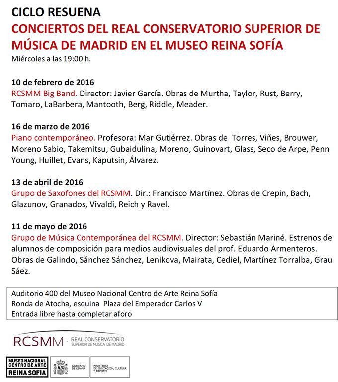 real conservatorio superior de musica de madrid  La Big Band inaugura los conciertos del Real Conservatorio en el Museo Reina Sofía