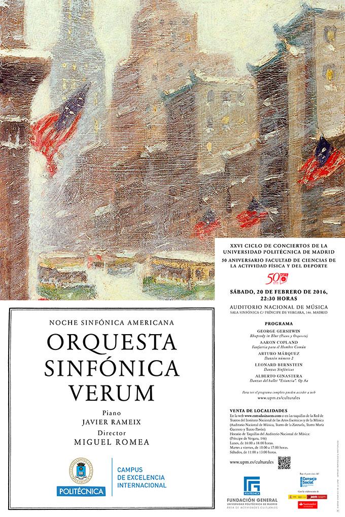 universidad politecnica de madrid  Noche Americana con la Orquesta Sinfónica VERUM