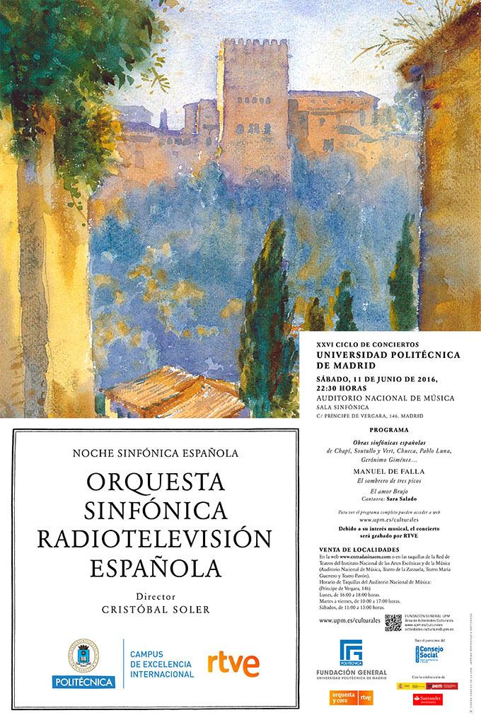 universidad politecnica de madrid  Noche Sinfónica Española en el XXVI Ciclo de Concierto de la Universidad Politécnica de Madrid