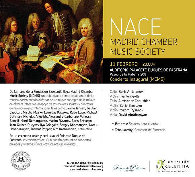 fundacion excelentia  Nace Madrid Chamber Music Society