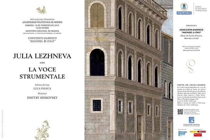 universidad politecnica de madrid  Concierto Barroco Haendel & Italy XXVII Ciclo de Conciertos de la UPM