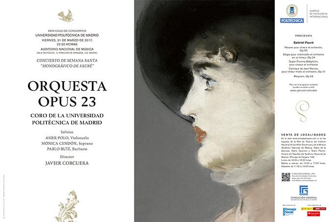 universidad politecnica de madrid  XXVII Ciclo Sinfónico UPM. Concierto de Semana Santa   Monográfico de Fauré