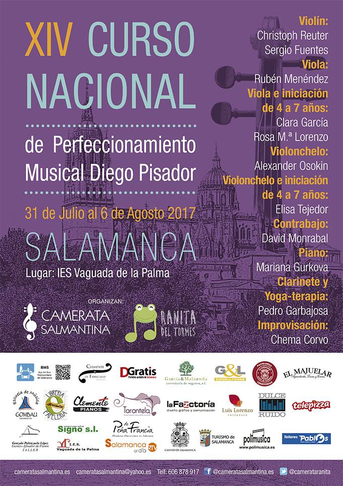camerata salmantina ranita del tormes  XIV Curso Nacional de Perfeccionamiento Musical Diego Pisador y Encuentro violín y viola