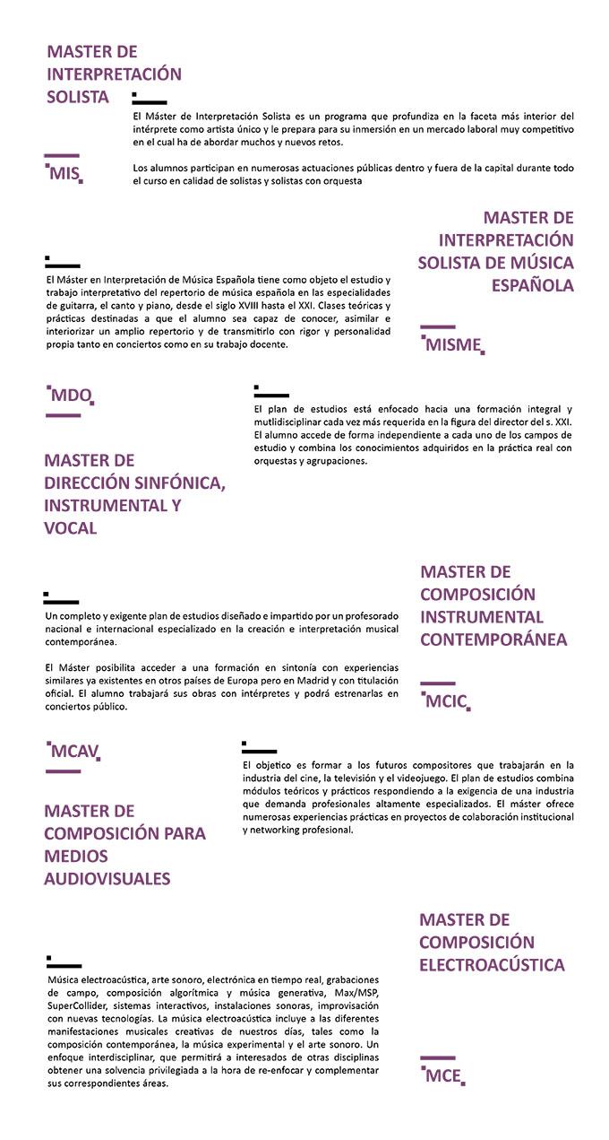 centro superior de ensenanza musical katarina gurska  Matrícula Abierta curso 2017 2018 para los 6 Títulos de Master en Enseñanzas Artísticas del CSKG