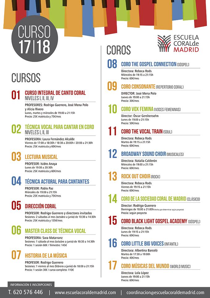 escuela coral de madrid  22 Cursos y Coros de canto coral en Madrid