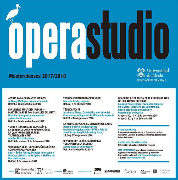 operastudio  Clases magistrales 2017 2018 de Operastudio