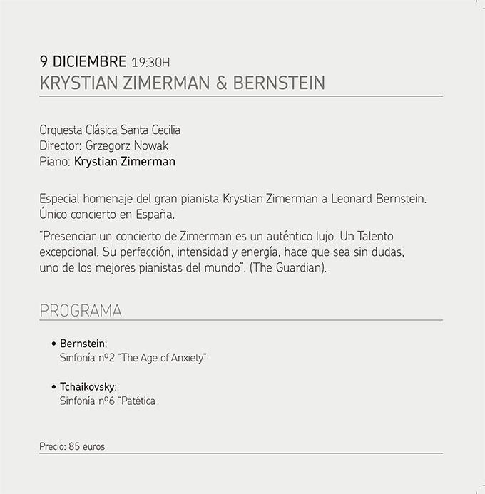 fundacion excelentia  Concierto único en España con KRYSTIAN ZIMERMAN