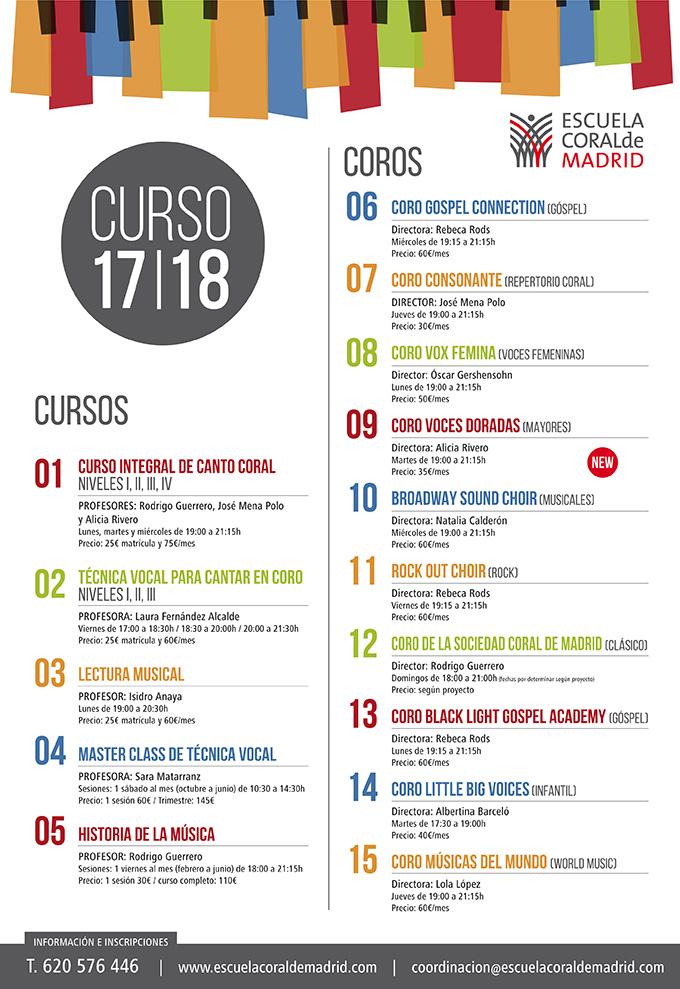 escuela coral de madrid  Cursos y Coros de canto coral en Madrid.