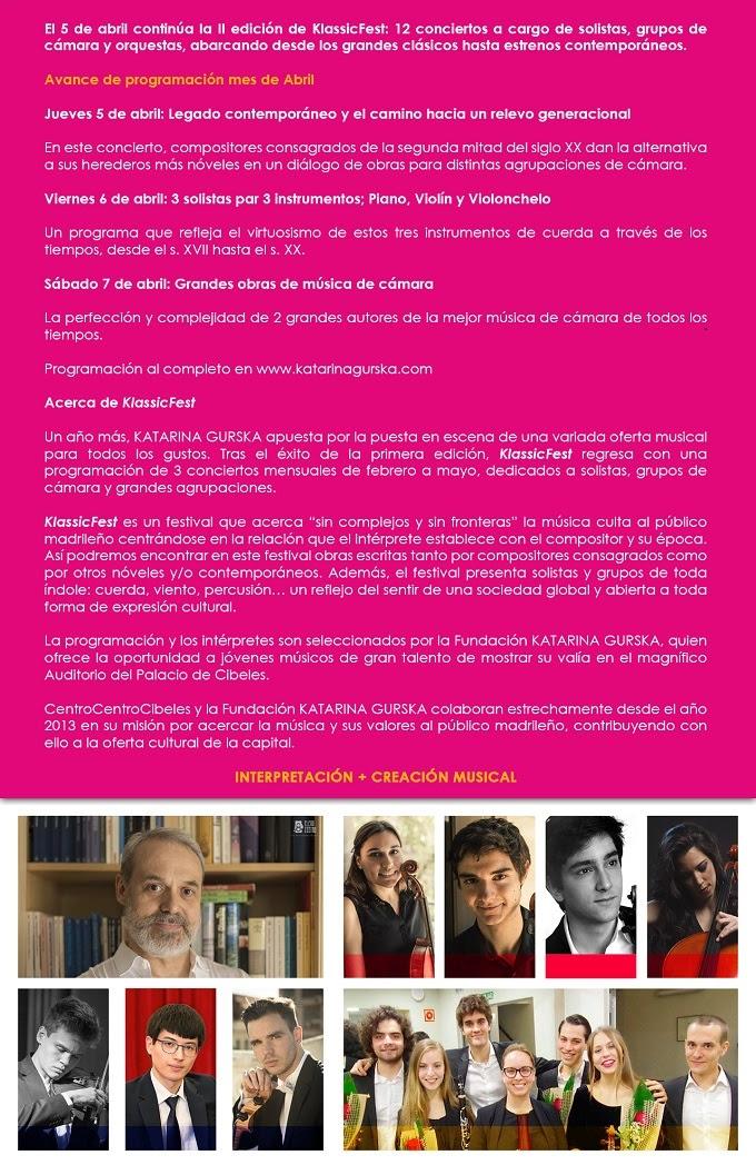 fundacion katarina gurska  II KlassicFest en CentroCentroCibeles