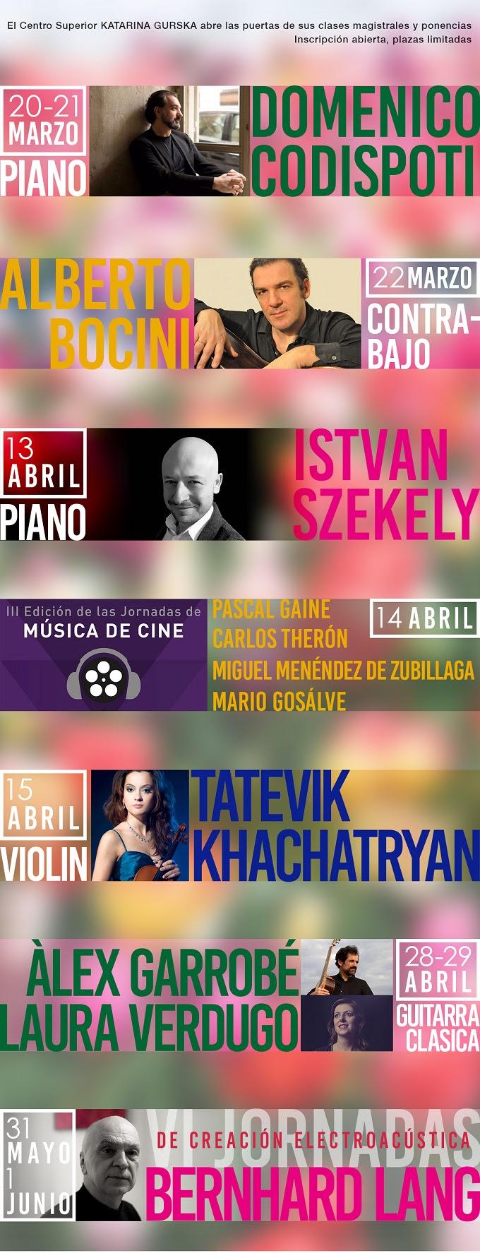 centro superior de ensenanza musical katarina gurska  Una atractiva oferta de clases magistrales de interpretación, ponencias, seminarios y talleres para arrancar la primavera