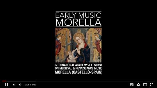 asociacion cultural comes  VII Academia Internacional de Música Medieval y Renacentista EARLY MUSIC MORELLA