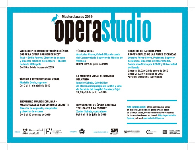 operastudio  Clases magistrales 2019 de Operastudio