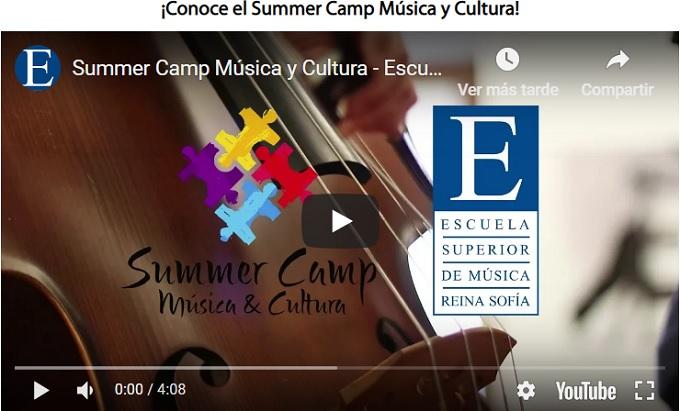 escuela de musica reina sofia  Summer Camp Juvenil de Música, Cultura e Idiomas. Últimas plazas