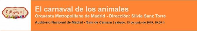 grupo concertante talia  El carnaval de los animales de Saint Saëns vuelve al Auditorio Nacional con la Orquesta Metropolitana de Madrid y Silvia Sanz Torre