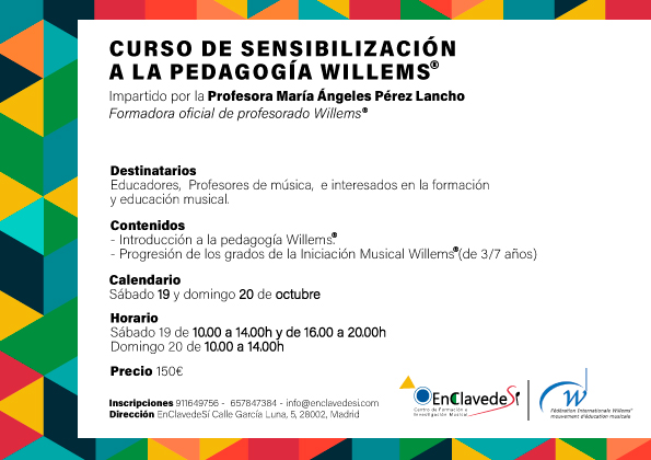 enclavedesi  Curso de sensibilización a la pedagogía Willems