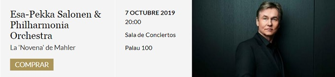 palau de la musica catalana  La Novena Sinfonía de Mahler con Esa Pekka Salonen en el Palau de la Música Catalana