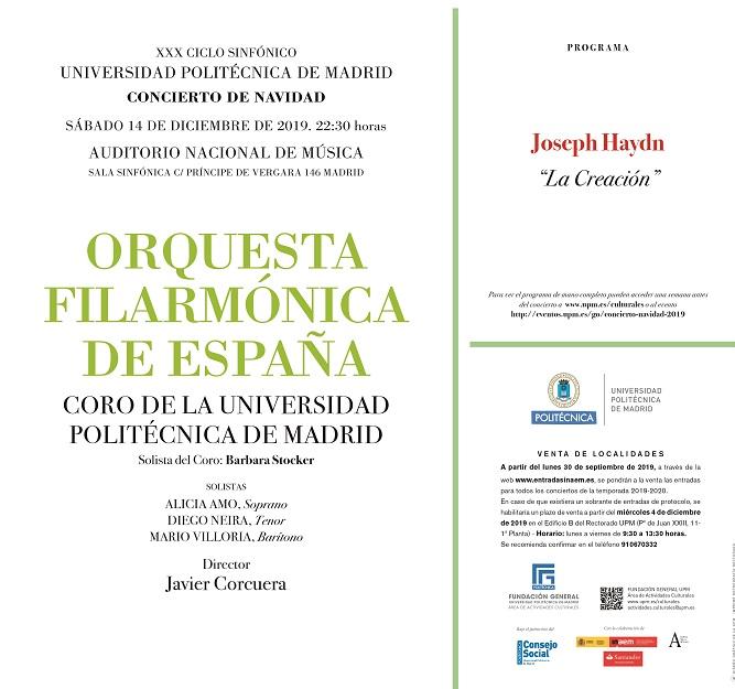 universidad politecnica de madrid  CONCIERTO NAVIDAD UPM