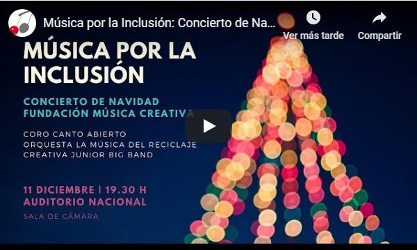 fundacion musica creativa  Música por la Inclusión: Concierto de Navidad