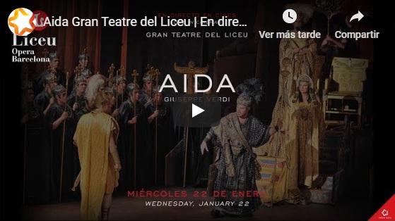 sorteo  Doce Notas y +Que Cine te invitan a ver AIDA desde el Liceu en directo en cines de toda España